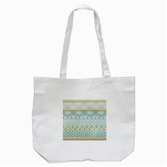 Circle Polka Plaid Triangle Gold Blue Flower Floral Star Tote Bag (white) by Mariart