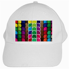 Circle Round Yellow Green Blue Purple Brown Orange Pink White Cap by Mariart