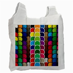 Circle Round Yellow Green Blue Purple Brown Orange Pink Recycle Bag (two Side)  by Mariart