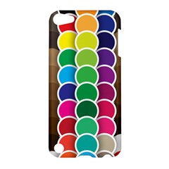 Circle Round Yellow Green Blue Purple Brown Orange Pink Apple Ipod Touch 5 Hardshell Case by Mariart
