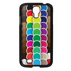 Circle Round Yellow Green Blue Purple Brown Orange Pink Samsung Galaxy S4 I9500/ I9505 Case (black) by Mariart