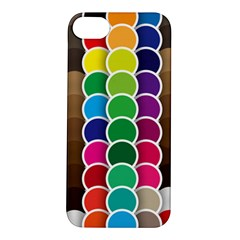 Circle Round Yellow Green Blue Purple Brown Orange Pink Apple Iphone 5s/ Se Hardshell Case by Mariart