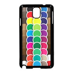 Circle Round Yellow Green Blue Purple Brown Orange Pink Samsung Galaxy Note 3 Neo Hardshell Case (black) by Mariart