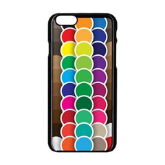 Circle Round Yellow Green Blue Purple Brown Orange Pink Apple Iphone 6/6s Black Enamel Case by Mariart