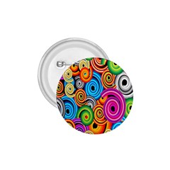 Circle Round Hole Rainbow 1 75  Buttons