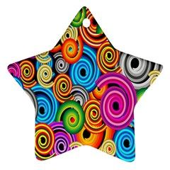 Circle Round Hole Rainbow Ornament (star) by Mariart