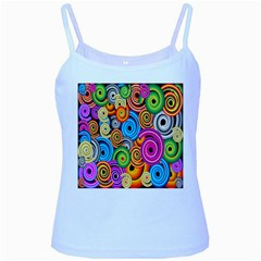 Circle Round Hole Rainbow Baby Blue Spaghetti Tank by Mariart