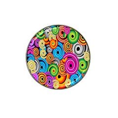Circle Round Hole Rainbow Hat Clip Ball Marker (4 Pack) by Mariart