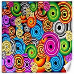 Circle Round Hole Rainbow Canvas 20  X 20   by Mariart