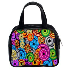 Circle Round Hole Rainbow Classic Handbags (2 Sides) by Mariart