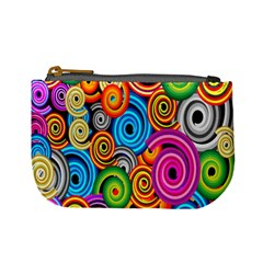 Circle Round Hole Rainbow Mini Coin Purses by Mariart