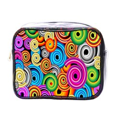 Circle Round Hole Rainbow Mini Toiletries Bags by Mariart