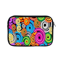 Circle Round Hole Rainbow Apple Ipad Mini Zipper Cases by Mariart