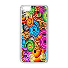Circle Round Hole Rainbow Apple Iphone 5c Seamless Case (white) by Mariart