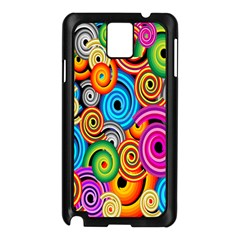 Circle Round Hole Rainbow Samsung Galaxy Note 3 N9005 Case (black) by Mariart