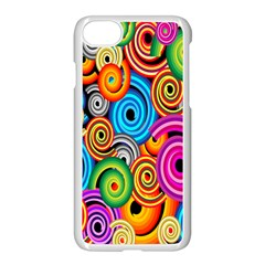 Circle Round Hole Rainbow Apple Iphone 7 Seamless Case (white) by Mariart