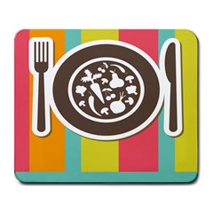 Dinerplate Tablemaner Food Fok Knife Large Mousepads by Mariart