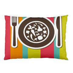 Dinerplate Tablemaner Food Fok Knife Pillow Case by Mariart