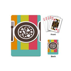 Dinerplate Tablemaner Food Fok Knife Playing Cards (mini)  by Mariart