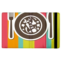 Dinerplate Tablemaner Food Fok Knife Apple Ipad 3/4 Flip Case by Mariart
