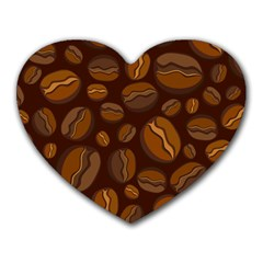 Coffee Beans Heart Mousepads by Mariart