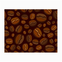 Coffee Beans Small Glasses Cloth (2 Side) by Mariart