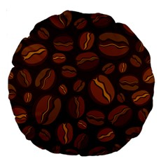 Coffee Beans Large 18  Premium Round Cushions by Mariart