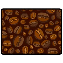Coffee Beans Double Sided Fleece Blanket (large)  by Mariart