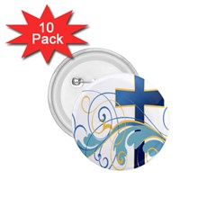 Easter Clip Art Free Religious 1 75  Buttons (10 Pack)