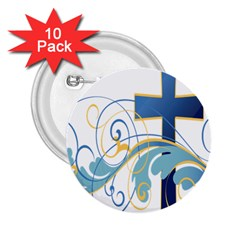Easter Clip Art Free Religious 2 25  Buttons (10 Pack)  by Mariart