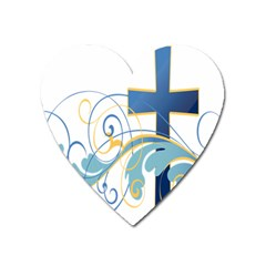 Easter Clip Art Free Religious Heart Magnet by Mariart