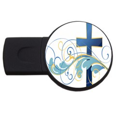 Easter Clip Art Free Religious Usb Flash Drive Round (2 Gb) by Mariart