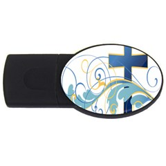 Easter Clip Art Free Religious Usb Flash Drive Oval (4 Gb)