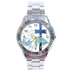 Easter Clip Art Free Religious Stainless Steel Analogue Watch by Mariart