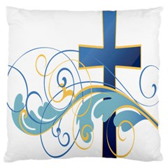 Easter Clip Art Free Religious Large Flano Cushion Case (two Sides) by Mariart