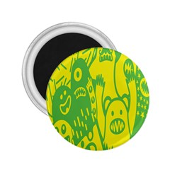 Easter Monster Sinister Happy Green Yellow Magic Rock 2 25  Magnets