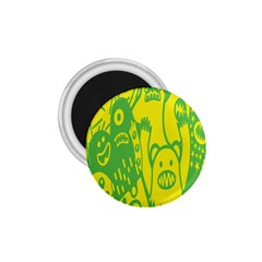 Easter Monster Sinister Happy Green Yellow Magic Rock 1 75  Magnets by Mariart