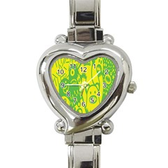 Easter Monster Sinister Happy Green Yellow Magic Rock Heart Italian Charm Watch by Mariart