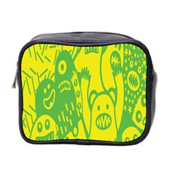 Easter Monster Sinister Happy Green Yellow Magic Rock Mini Toiletries Bag 2 Side by Mariart