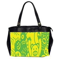 Easter Monster Sinister Happy Green Yellow Magic Rock Office Handbags (2 Sides)  by Mariart
