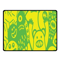Easter Monster Sinister Happy Green Yellow Magic Rock Fleece Blanket (small) by Mariart