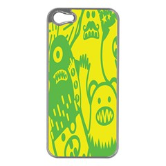 Easter Monster Sinister Happy Green Yellow Magic Rock Apple Iphone 5 Case (silver) by Mariart