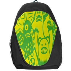 Easter Monster Sinister Happy Green Yellow Magic Rock Backpack Bag by Mariart