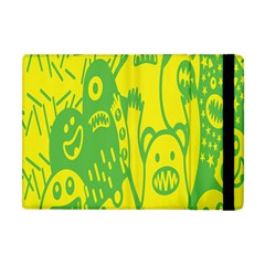 Easter Monster Sinister Happy Green Yellow Magic Rock Apple Ipad Mini Flip Case by Mariart