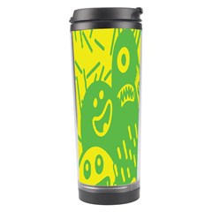 Easter Monster Sinister Happy Green Yellow Magic Rock Travel Tumbler