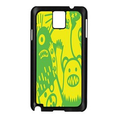 Easter Monster Sinister Happy Green Yellow Magic Rock Samsung Galaxy Note 3 N9005 Case (black) by Mariart
