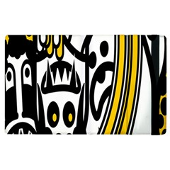 Easter Monster Sinister Happy Magic Rock Mask Face Polka Yellow Apple Ipad 3/4 Flip Case by Mariart