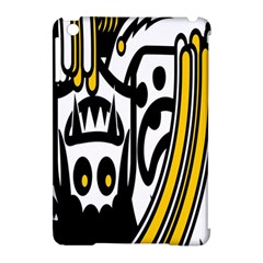 Easter Monster Sinister Happy Magic Rock Mask Face Polka Yellow Apple Ipad Mini Hardshell Case (compatible With Smart Cover) by Mariart