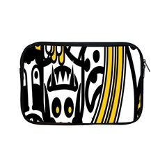 Easter Monster Sinister Happy Magic Rock Mask Face Polka Yellow Apple Ipad Mini Zipper Cases by Mariart