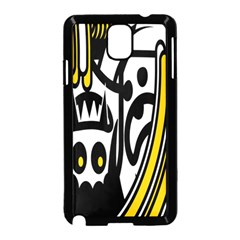 Easter Monster Sinister Happy Magic Rock Mask Face Polka Yellow Samsung Galaxy Note 3 Neo Hardshell Case (black) by Mariart